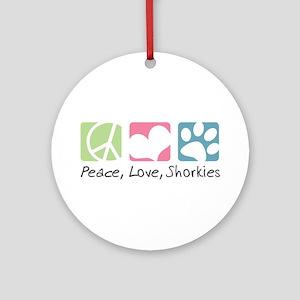 Peace, Love, Shorkies Ornament (Round)