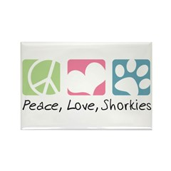 Peace, Love, Shorkies Rectangle Magnet (10 pack)
