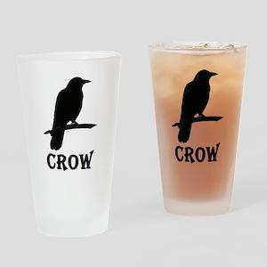 Black Crow Drinking Glass