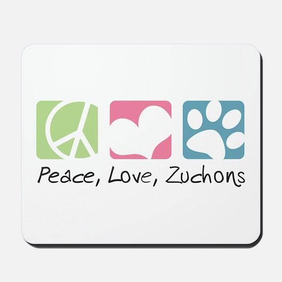 Peace, Love, Zuchons Mousepad