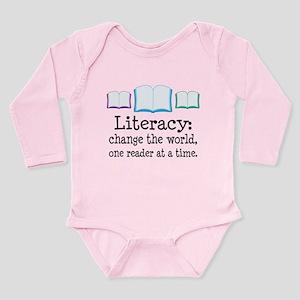 Literacy Reading Quote Long Sleeve Infant Bodysuit