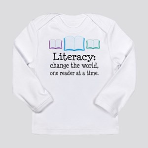 Literacy Reading Quote Long Sleeve Infant T-Shirt