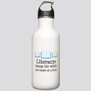 Literacy Reading Quote Stainless Water Bottle 1.0L