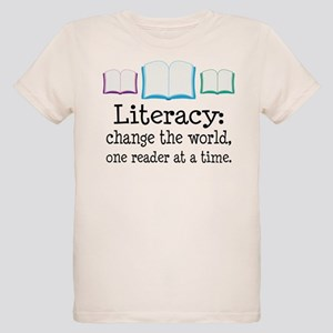 Literacy Reading Quote Organic Kids T-Shirt