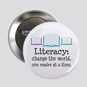 "Literacy Reading Quote 2.25"" Button"