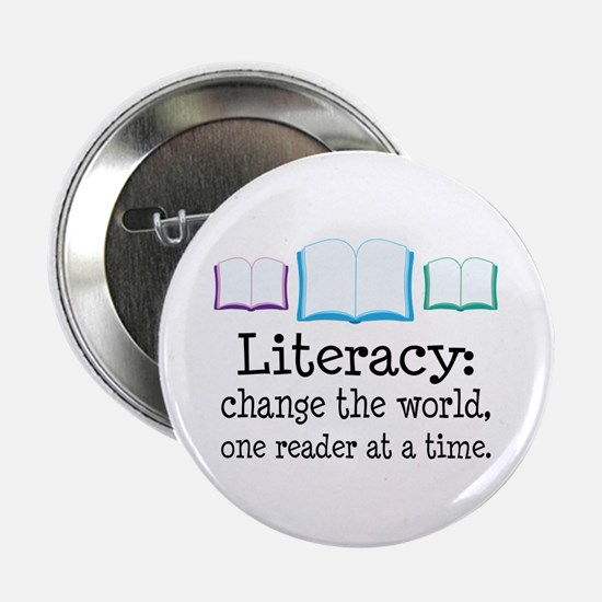 """Literacy Reading Quote 2.25"""" Button"""