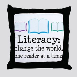 Literacy Reading Quote Throw Pillow