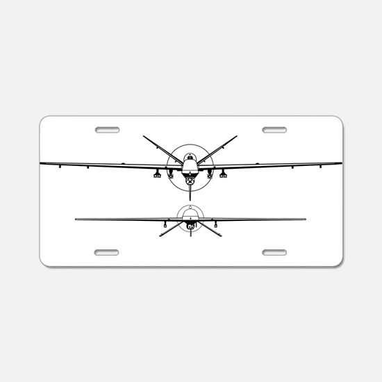 Deadly Duo Aluminum License Plate