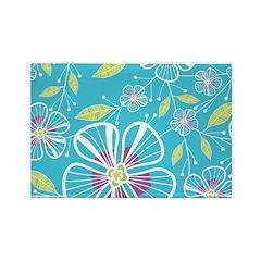 A Blue Bouquet Rectangle Magnet (10 pack)