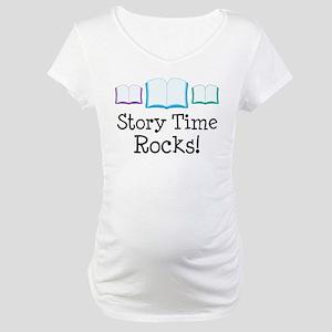 Story Time Rocks Maternity T-Shirt