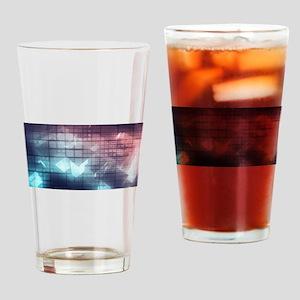 Analytics Tech Drinking Glass