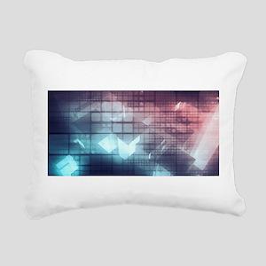 Analytics Tech Rectangular Canvas Pillow