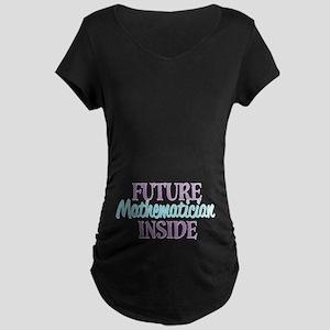 Future Mathematician Inside Maternity Dark T-Shirt