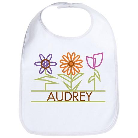 Audrey with cute flowers Bib
