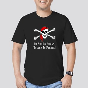 To Arr Is Pirate Skull Men's Fitted T-Shirt (dark)