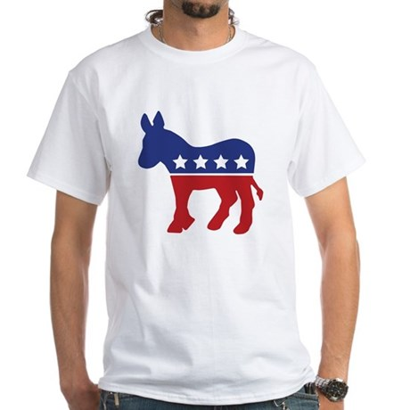 Democrat Donkey White T-Shirt