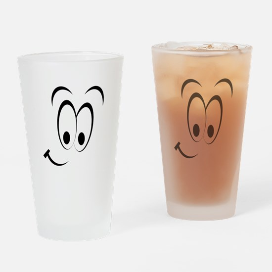 Cartoon Smile Drinking Glass