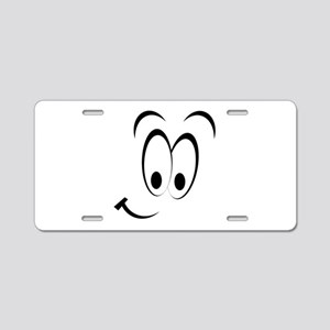 Cartoon Smile Aluminum License Plate