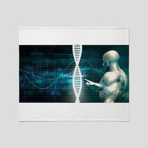 Biotechnology Throw Blanket