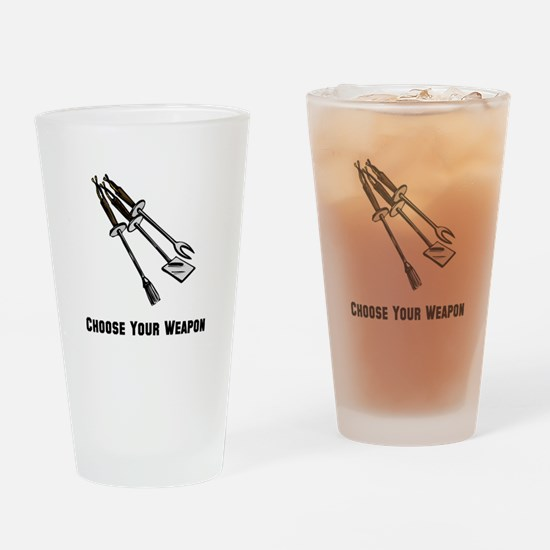 Choose Your Weapon Grill Drinking Glass