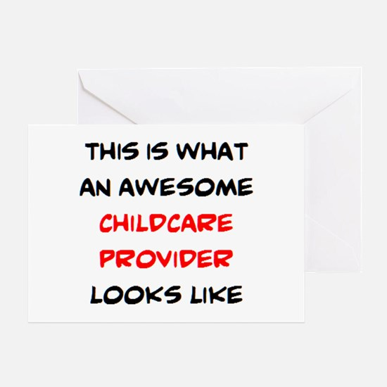 awesome childcare provider Greeting Card