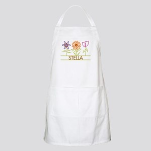 Stella with cute flowers Apron