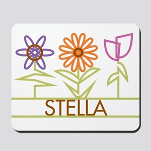 Stella with cute flowers Mousepad