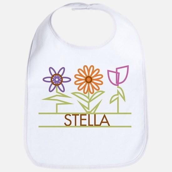 Stella with cute flowers Bib