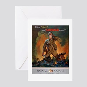 Army Skill and Courage Greeting Cards (Package of