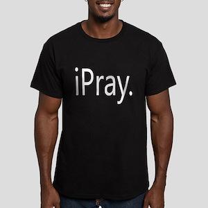 iPray Men's Fitted T-Shirt (dark)