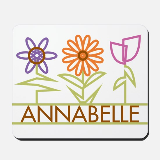 Annabelle with cute flowers Mousepad