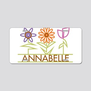 Annabelle with cute flowers Aluminum License Plate