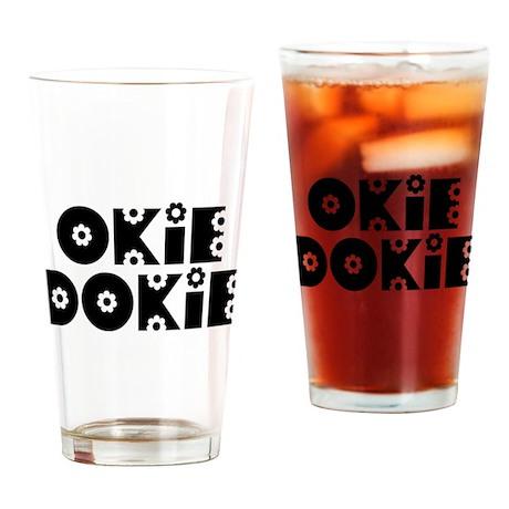 OkieDokie_Do_Black Drinking Glass