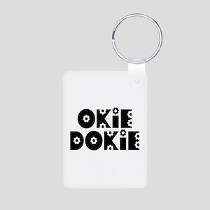 OkieDokie_Do_Black Aluminum Photo Keychain