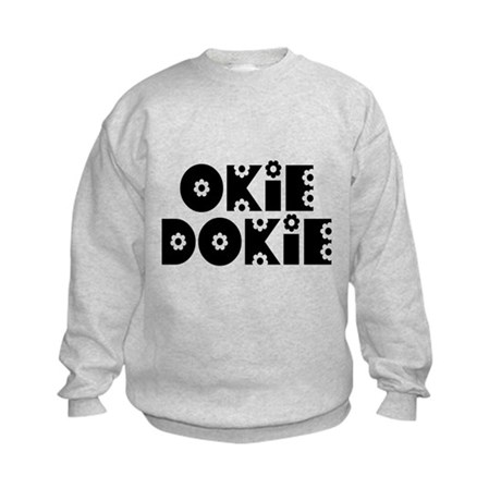 OkieDokie_Do_Black Kids Sweatshirt