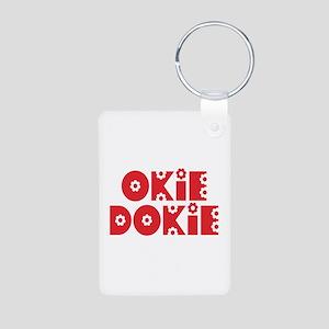 OkieDokie_Re_Red Aluminum Photo Keychain