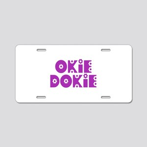 OkieDokie_So_Purple Aluminum License Plate