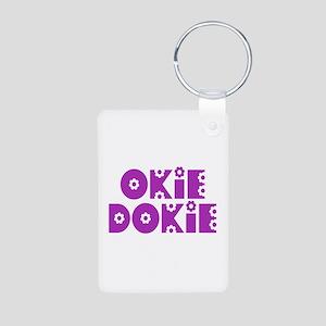 OkieDokie_So_Purple Aluminum Photo Keychain