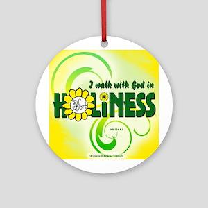 ACIM-I Walk with God Ornament (Round)