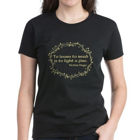 Light a Fire (yellow) Women's Dark T-Shirt