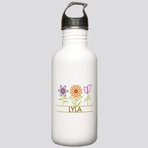 Lyla with cute flowers Stainless Water Bottle 1.0L