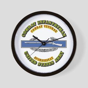 Army - CIB - 1st Award - Afghanistan Wall Clock