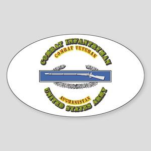 Army - CIB - 1st Award - Afghanistan Sticker (Oval