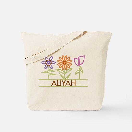 Aliyah with cute flowers Tote Bag