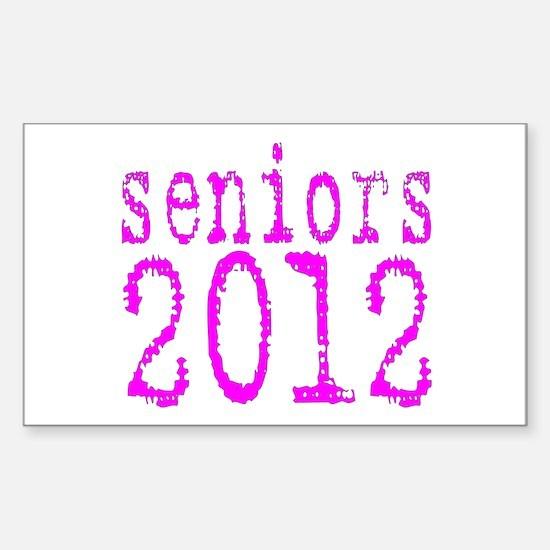 2012 Typo Pink Sticker (Rectangle)