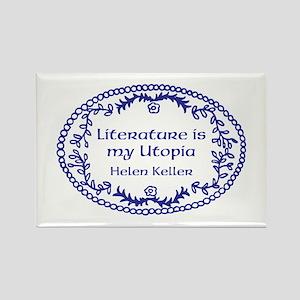Literary Utopia (blue) Rectangle Magnet
