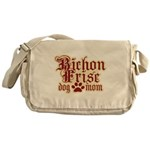 Bichon Frise Mom Messenger Bag