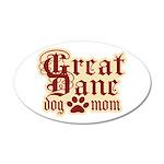 Great Dane Mom 38.5 x 24.5 Oval Wall Peel