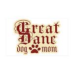 Great Dane Mom 38.5 x 24.5 Wall Peel