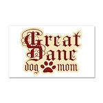 Great Dane Mom Car Magnet 20 x 12